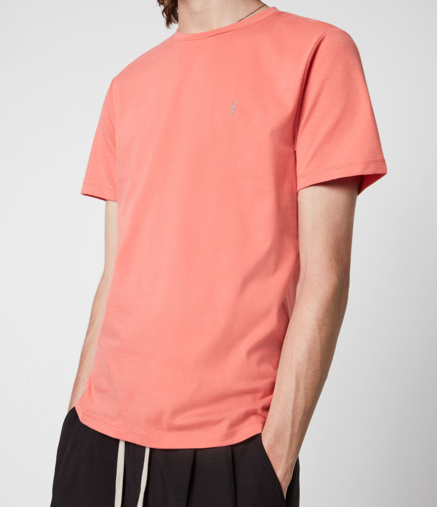 Herren Brace Crew T-Shirt (grenadine_pink) - Image 4