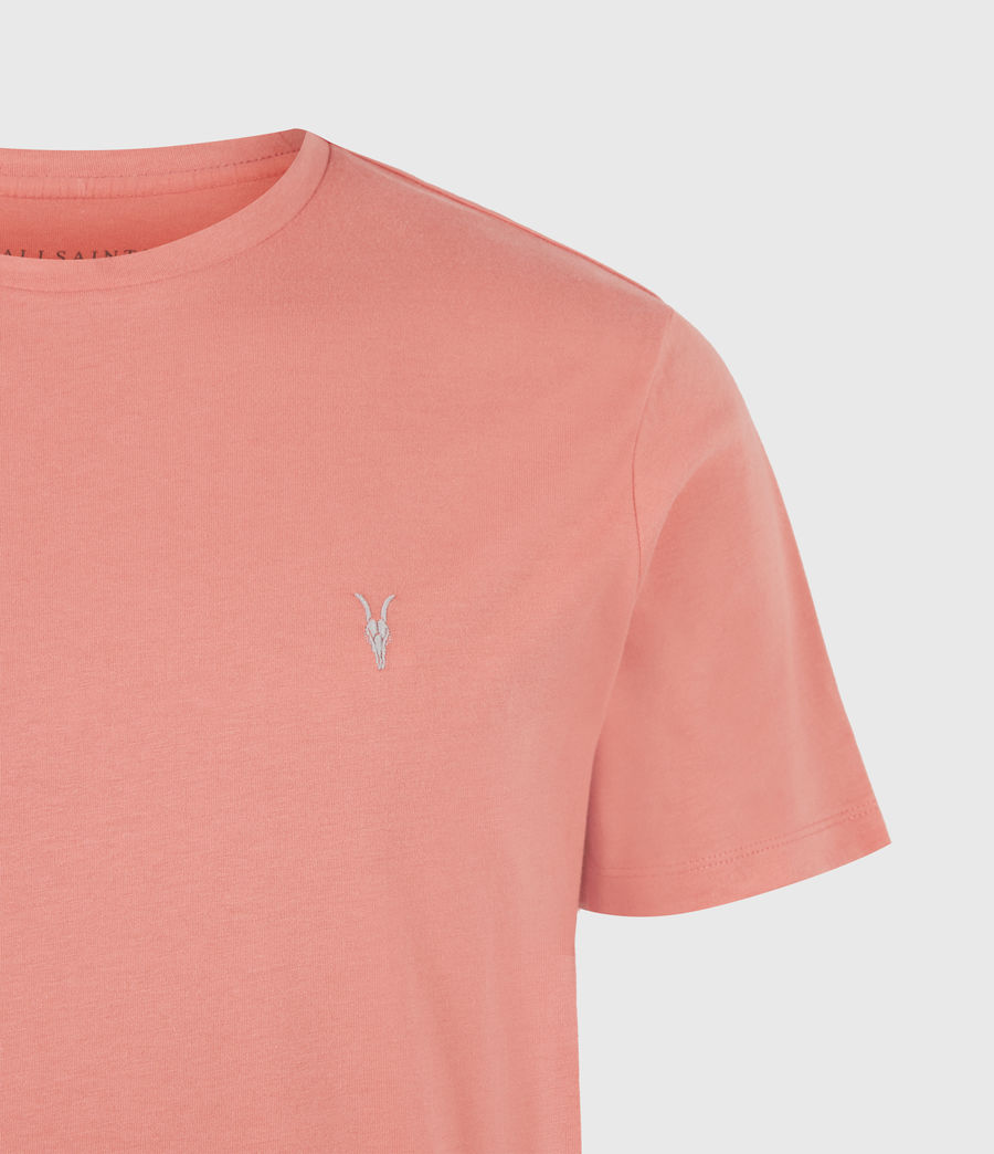 Herren Brace Crew T-Shirt (grenadine_pink) - Image 5