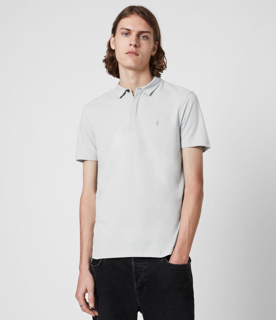 Herren Brace Short Sleeve Polo Shirt (breezy_blue_marl) - Image 1