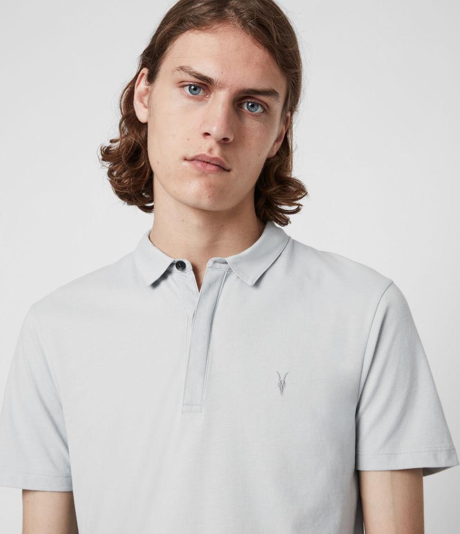 Herren Brace Short Sleeve Polo Shirt (breezy_blue_marl) - Image 4