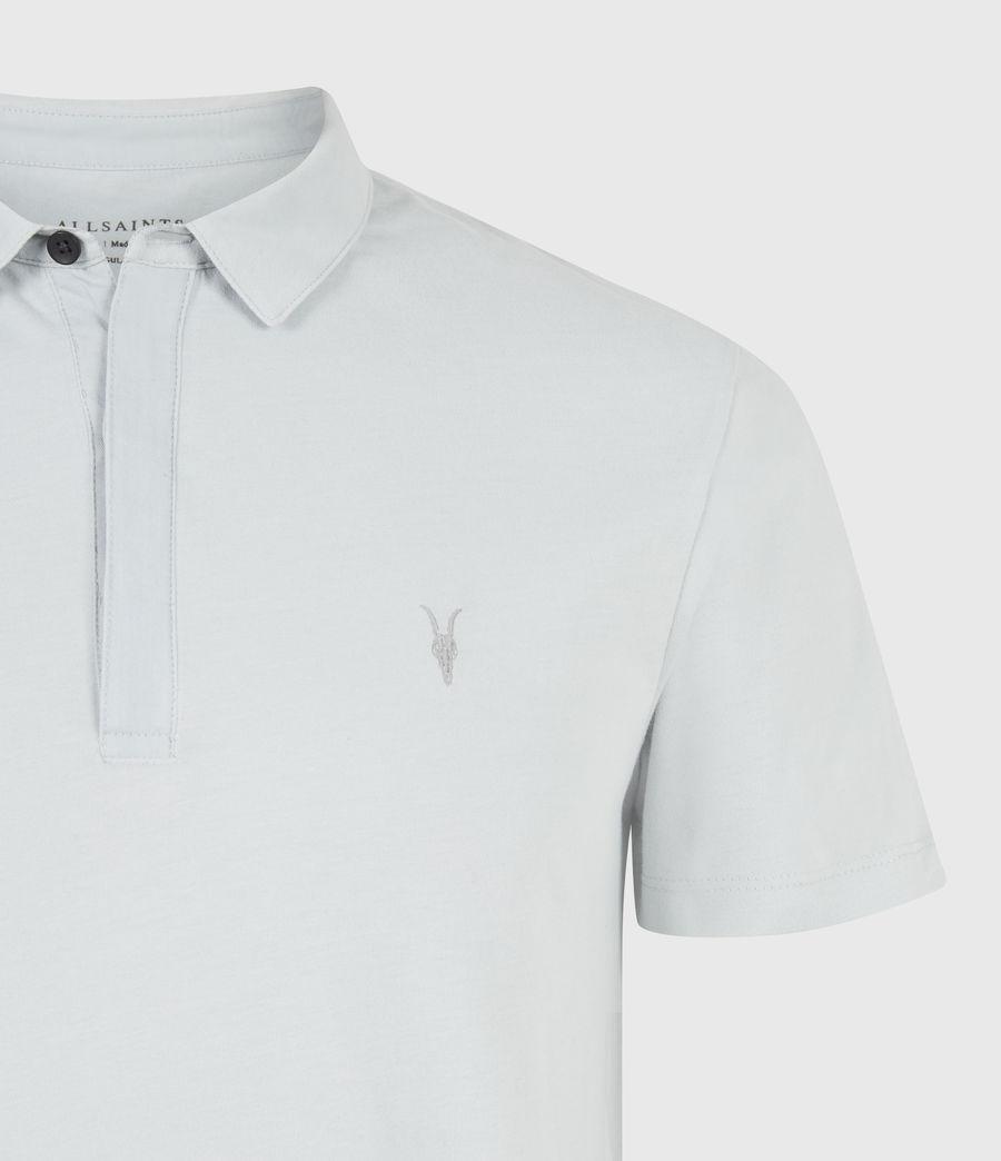 Herren Brace Short Sleeve Polo Shirt (breezy_blue_marl) - Image 5