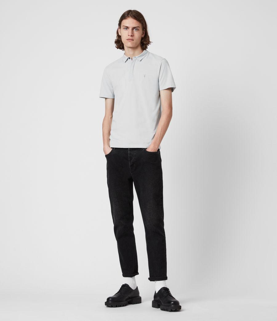 Herren Brace Short Sleeve Polo Shirt (breezy_blue_marl) - Image 6