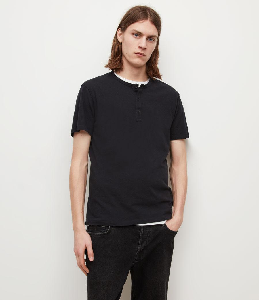 Mens Figure Henley T-Shirt (jet_black) - Image 1