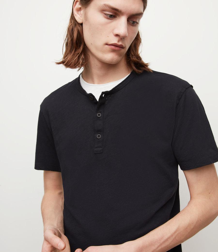 Mens Figure Henley T-Shirt (jet_black) - Image 2
