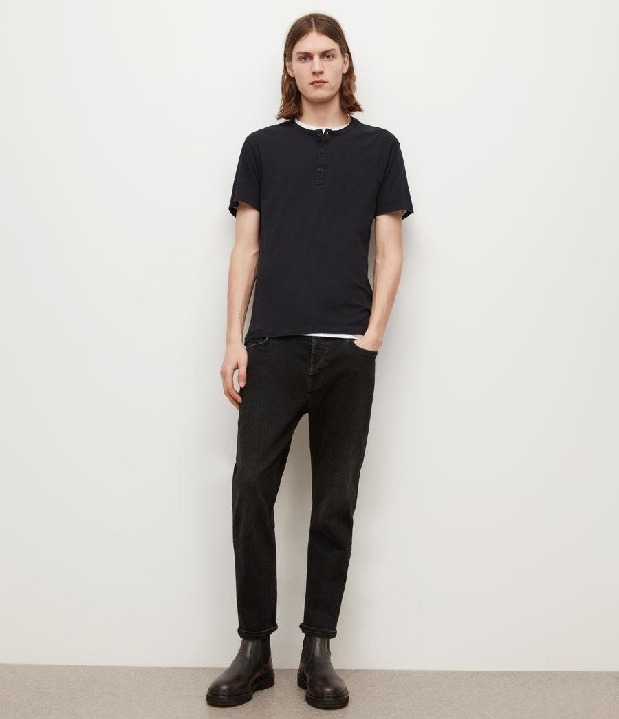 Mens Figure Henley T-Shirt (jet_black) - Image 3