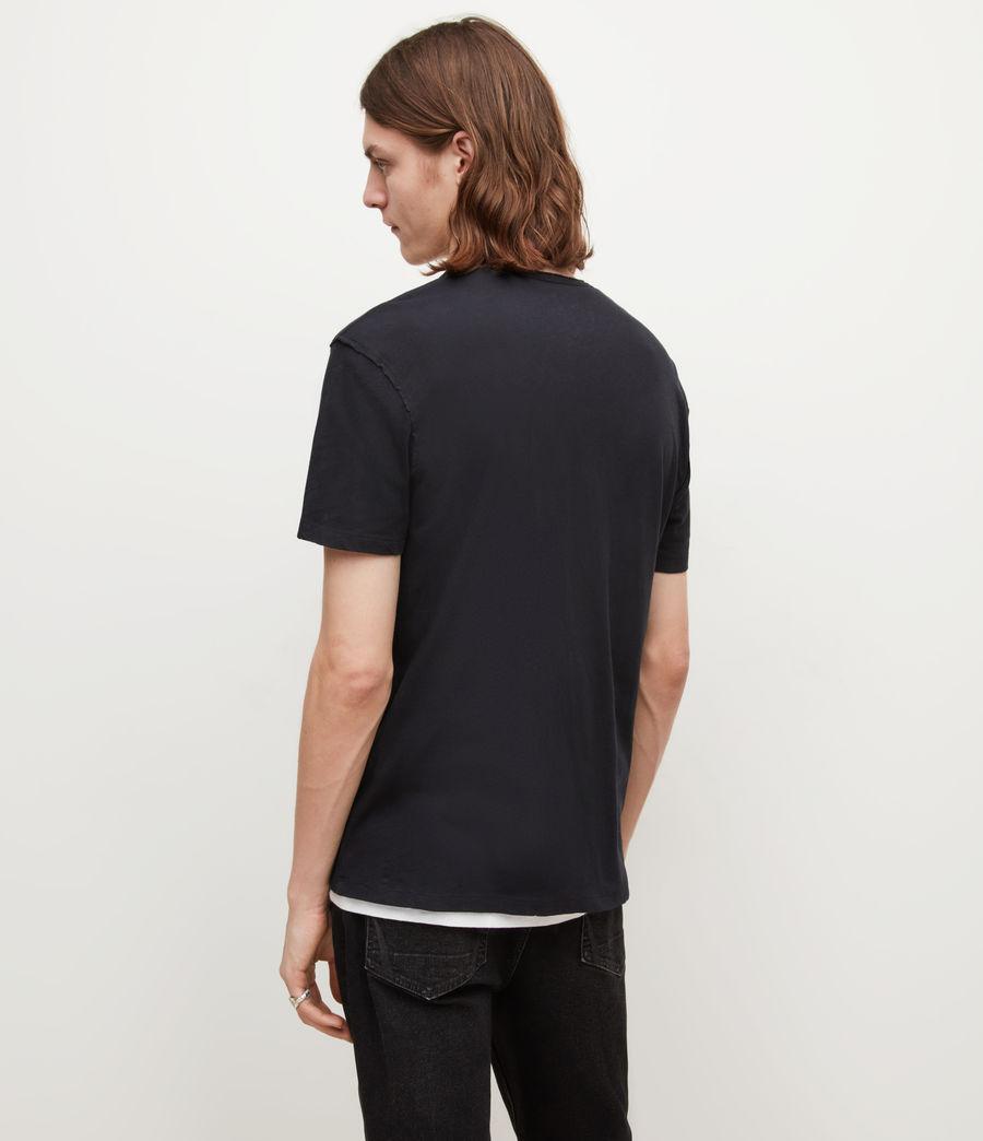 Mens Figure Henley T-Shirt (jet_black) - Image 5