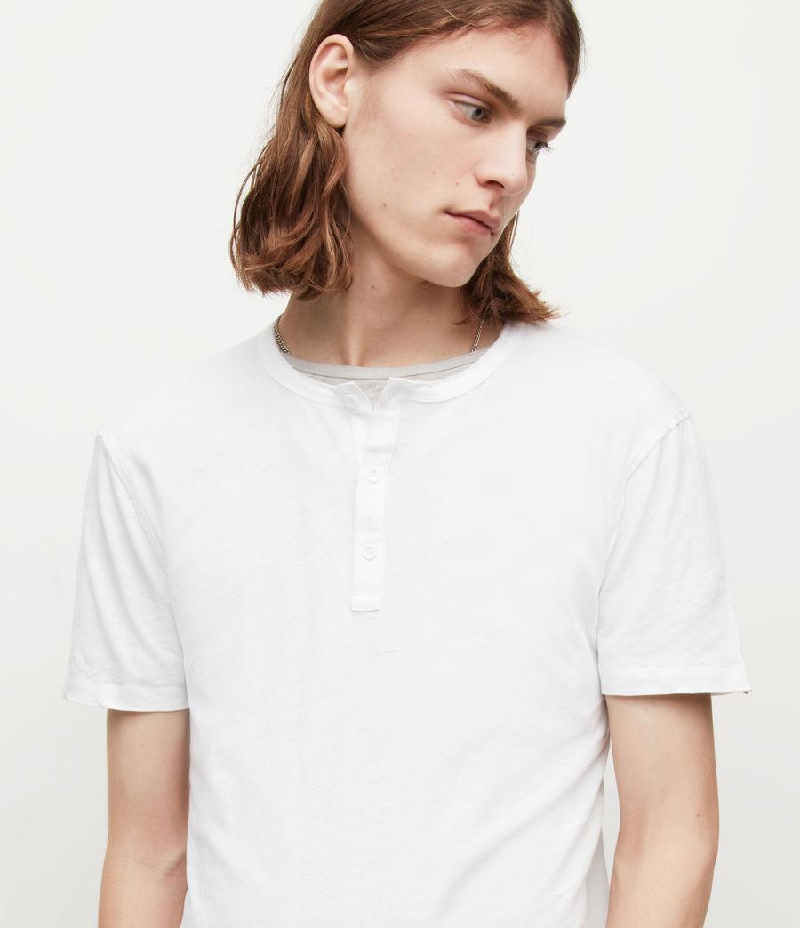 Mens Figure Henley T-Shirt (optic_white) - Image 2
