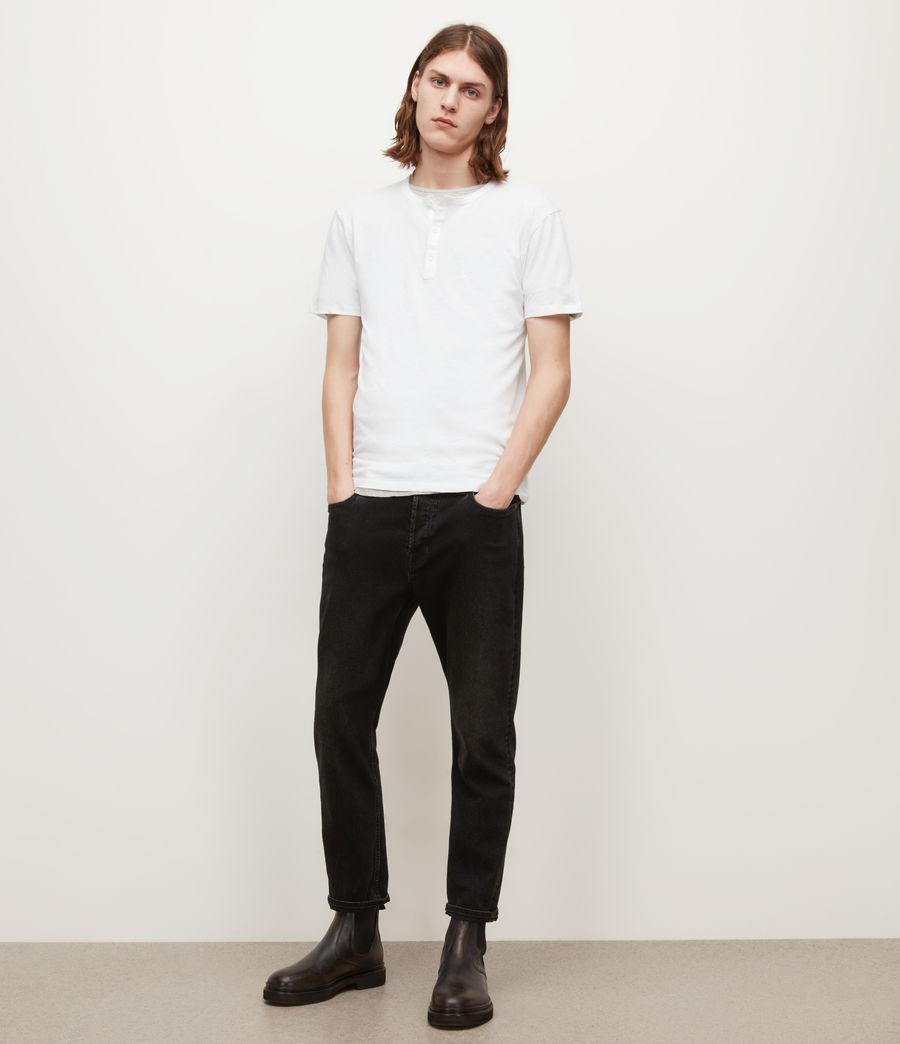 Mens Figure Henley T-Shirt (optic_white) - Image 3