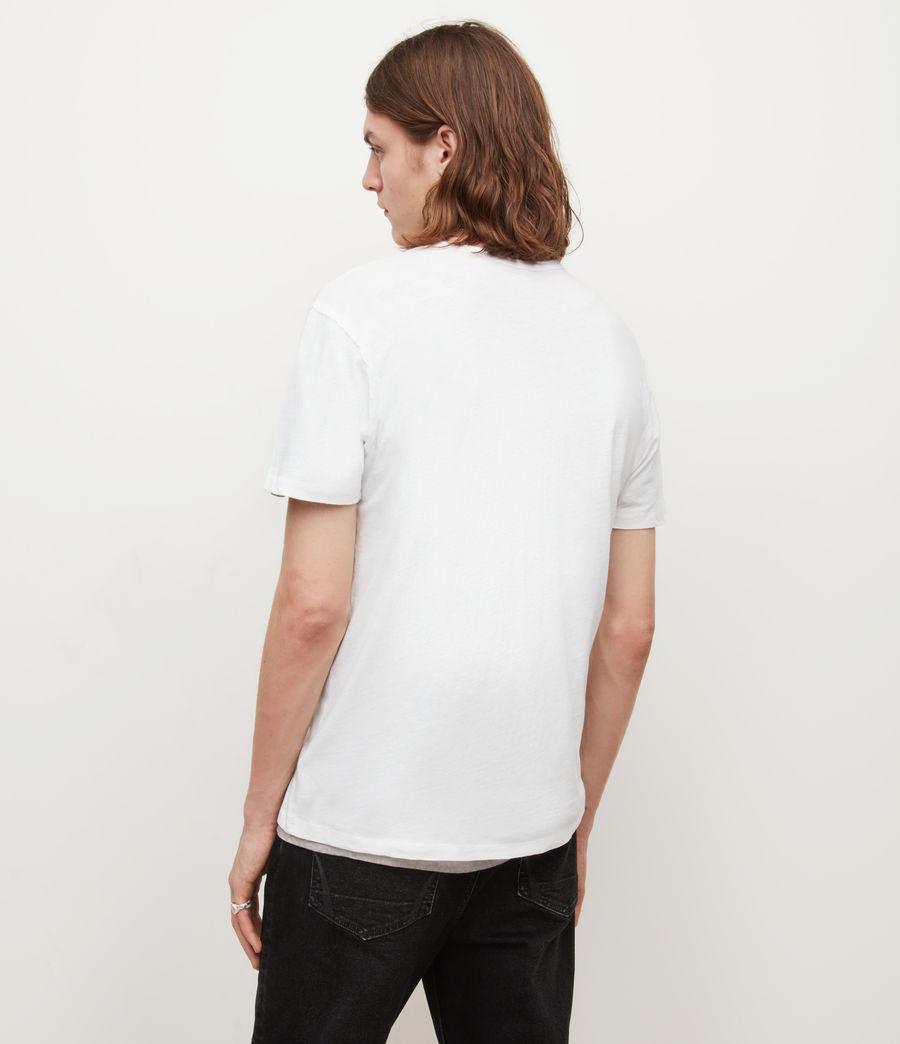 Mens Figure Henley T-Shirt (optic_white) - Image 4