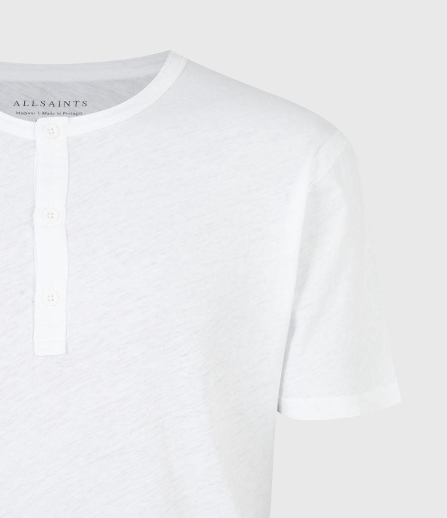 Mens Figure Henley T-Shirt (optic_white) - Image 5