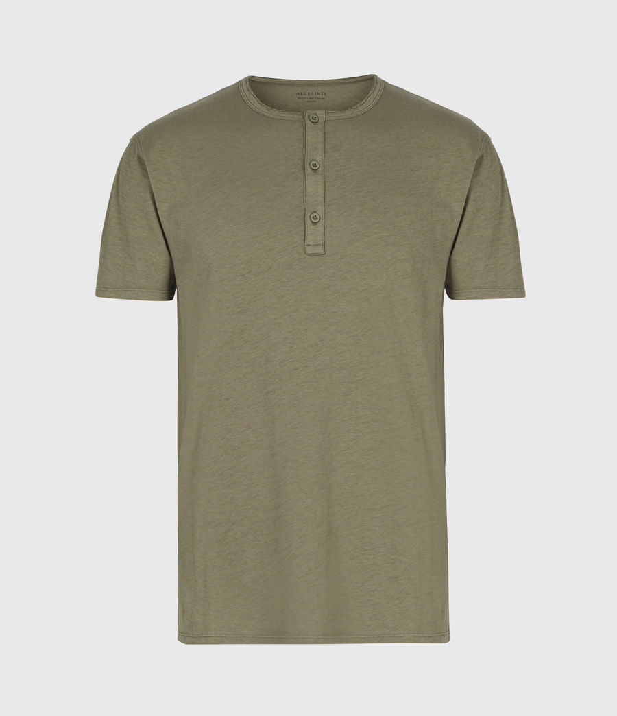 Mens Figure Henley T-Shirt (willow_taupe) - Image 2