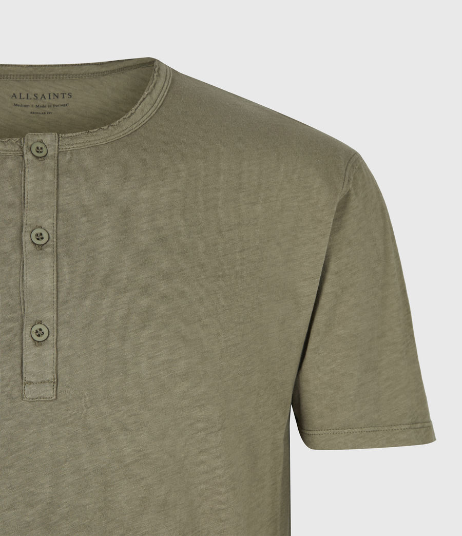 Mens Figure Henley T-Shirt (willow_taupe) - Image 4