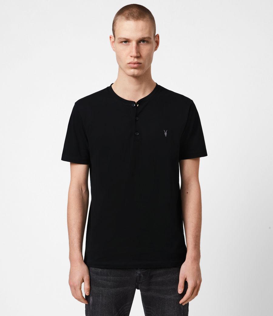 Mens Brace Short Sleeve Henley (jet_black) - Image 1