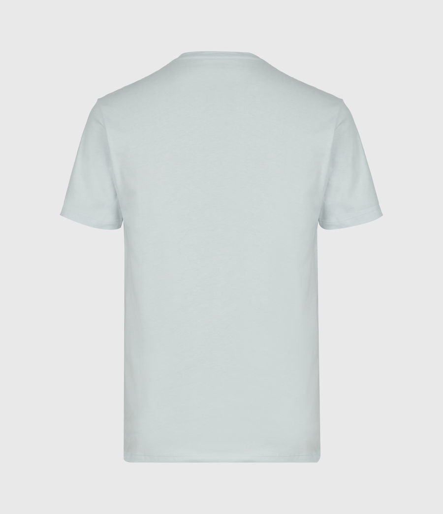 Mens Brace Short Sleeve Henley (seafoam_blue) - Image 3