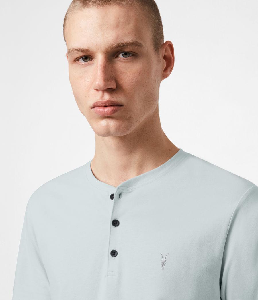 Mens Brace Short Sleeve Henley (seafoam_blue) - Image 4