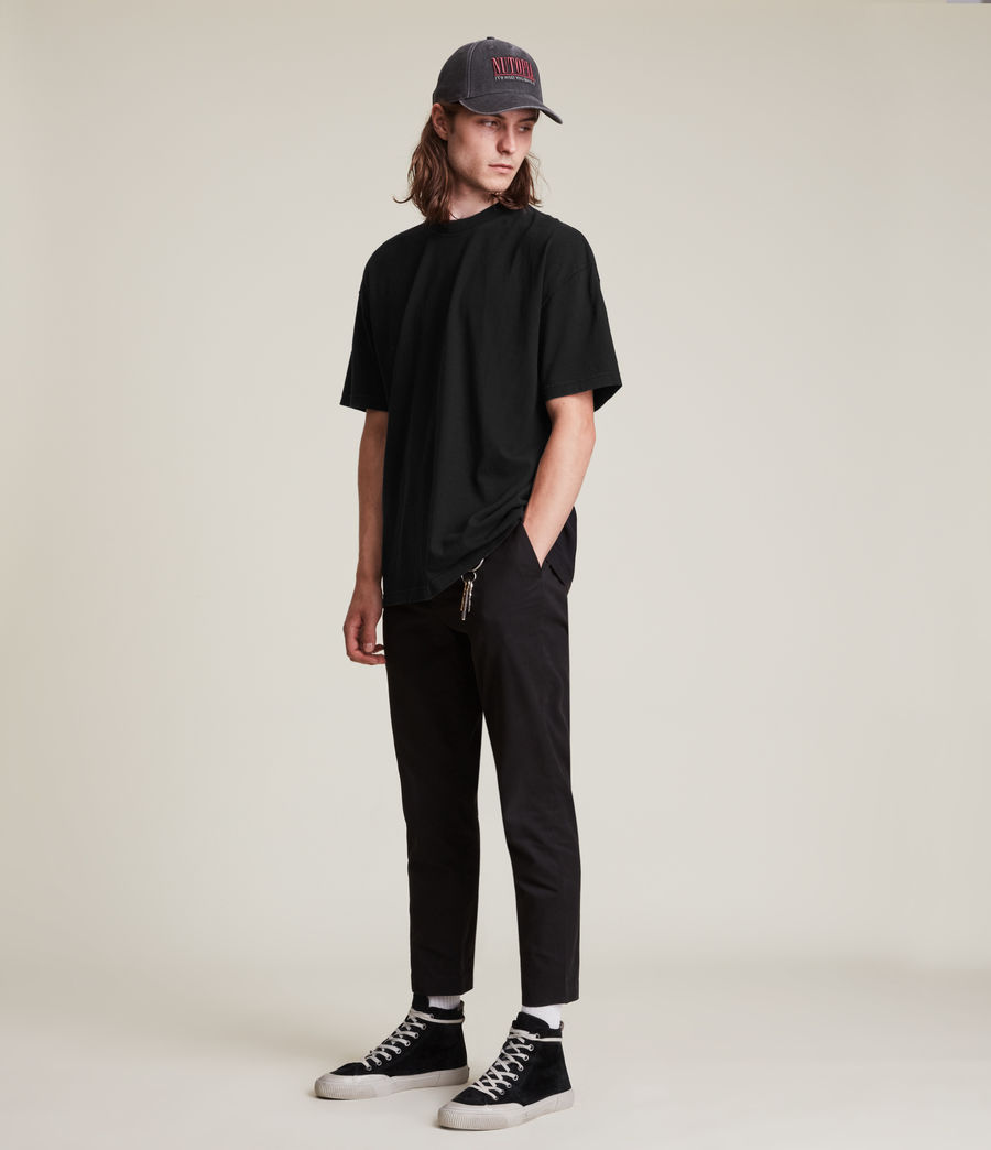 Men's Kyan Crew T-Shirt (jet_black) - Image 4