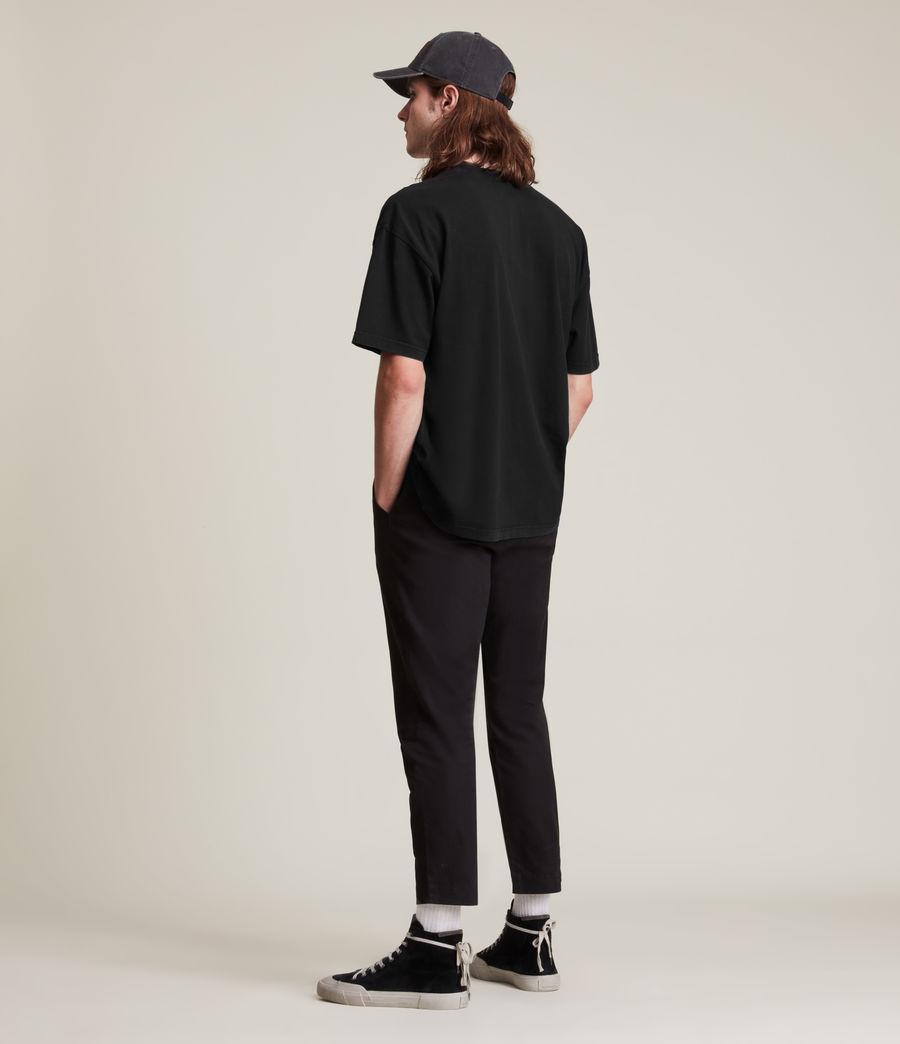 Men's Kyan Crew T-Shirt (jet_black) - Image 5