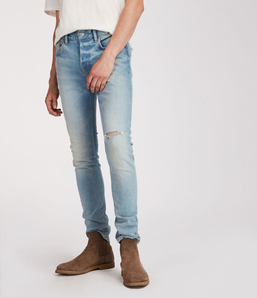 Mens Index Cigarette Skinny Jeans (indigo) - Image 3