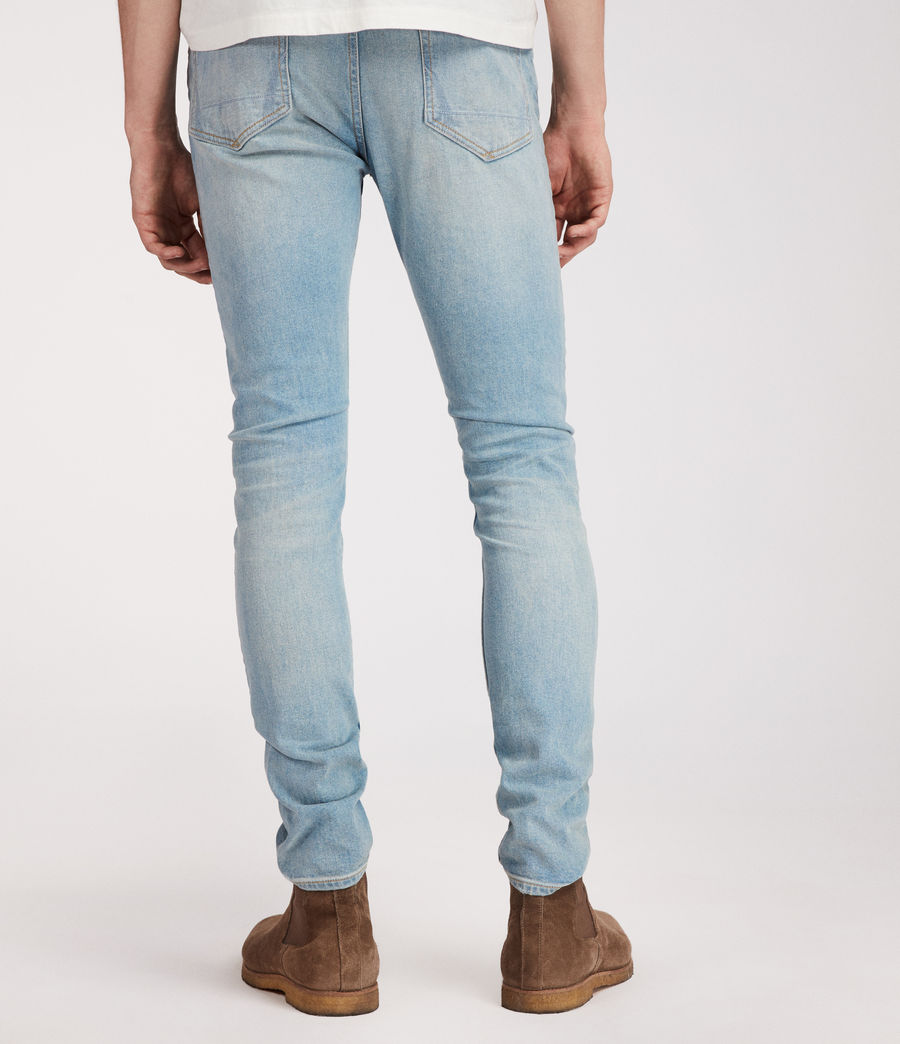 Mens Index Cigarette Skinny Jeans (indigo) - Image 4