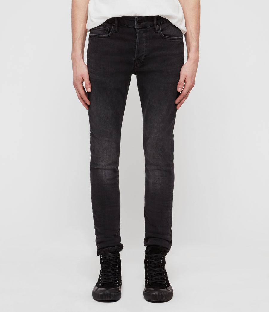 Men's Cigarette Skinny Jeans, Dark Grey (dark_grey) - Image 1