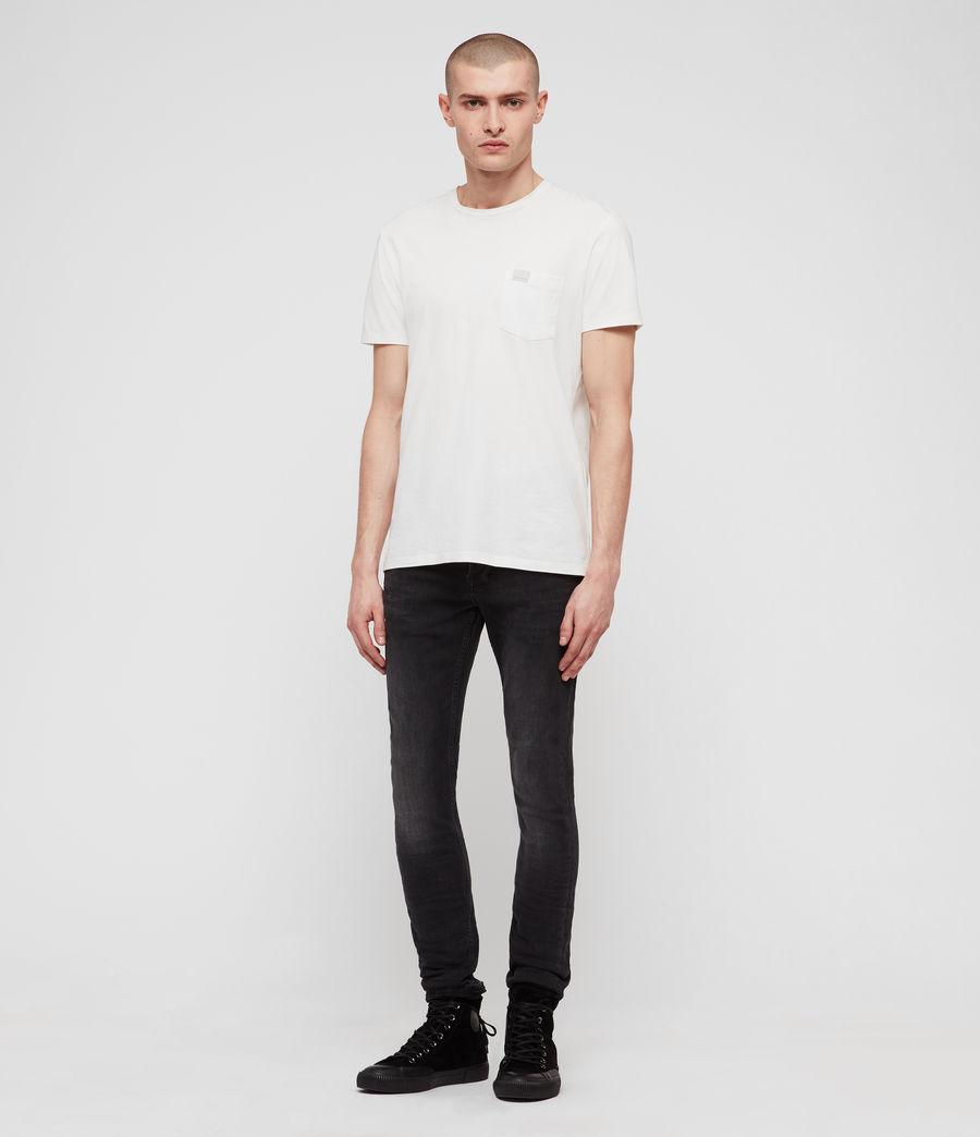 Men's Cigarette Skinny Jeans, Dark Grey (dark_grey) - Image 3