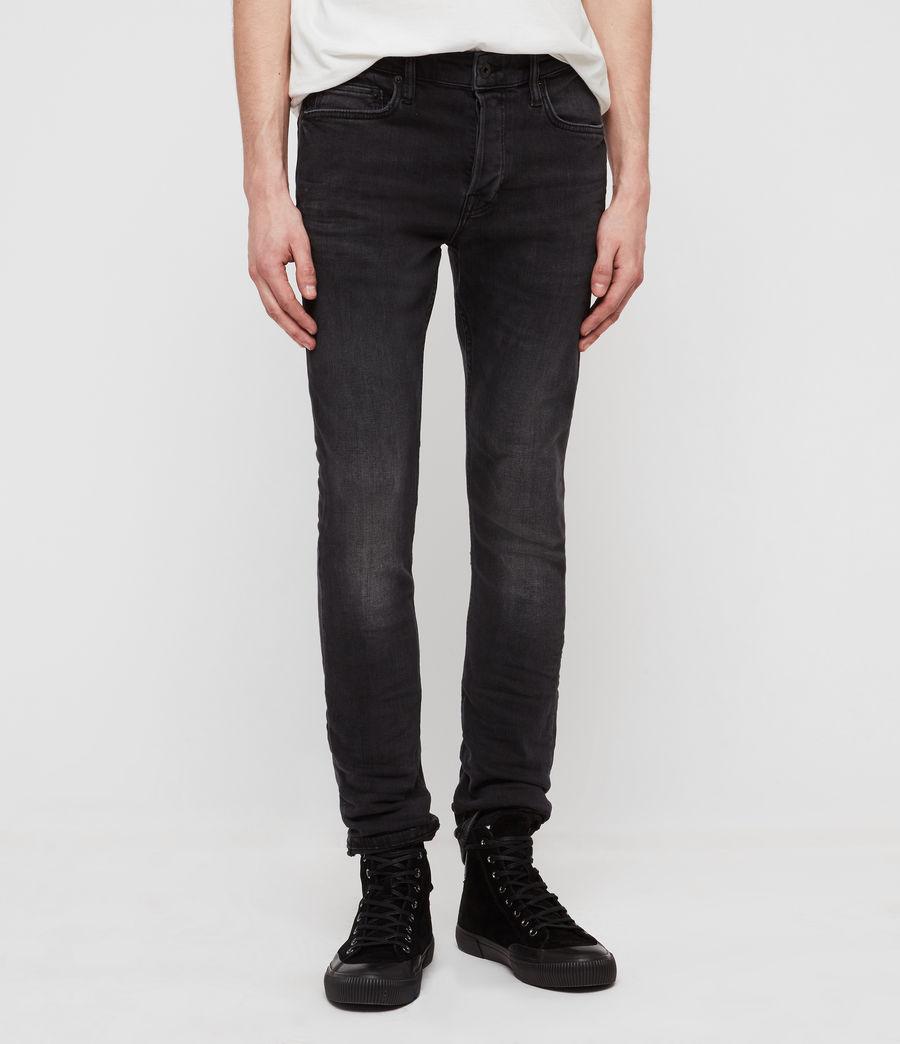 Men's Cigarette Skinny Jeans, Dark Grey (dark_grey) - Image 5
