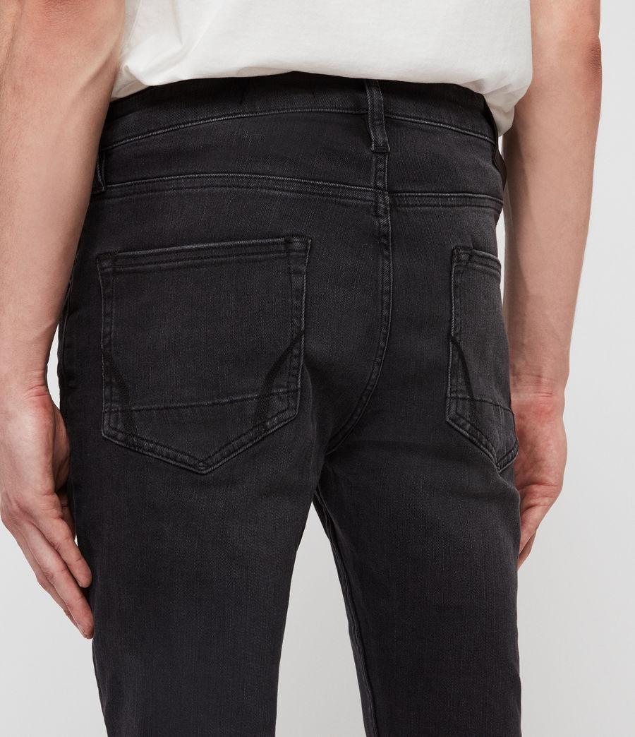Men's Cigarette Skinny Jeans, Dark Grey (dark_grey) - Image 6