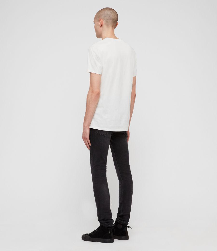 Men's Cigarette Skinny Jeans, Dark Grey (dark_grey) - Image 7