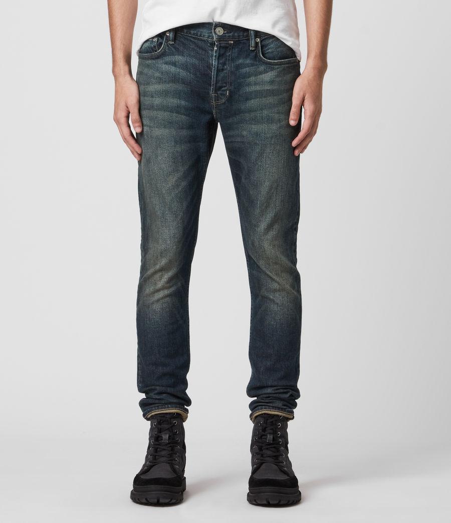 Mens Rex Slim Jeans, Dark Indigo (dark_indigo) - Image 1