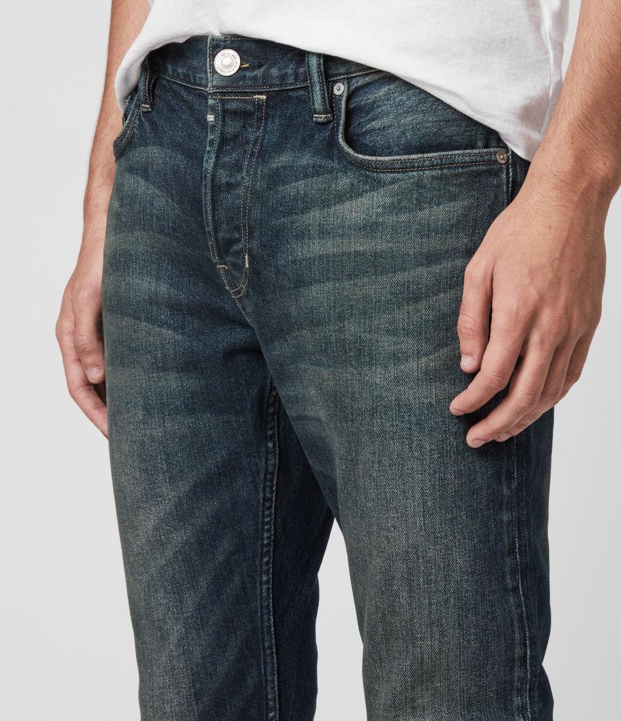 Mens Rex Slim Jeans, Dark Indigo (dark_indigo) - Image 2