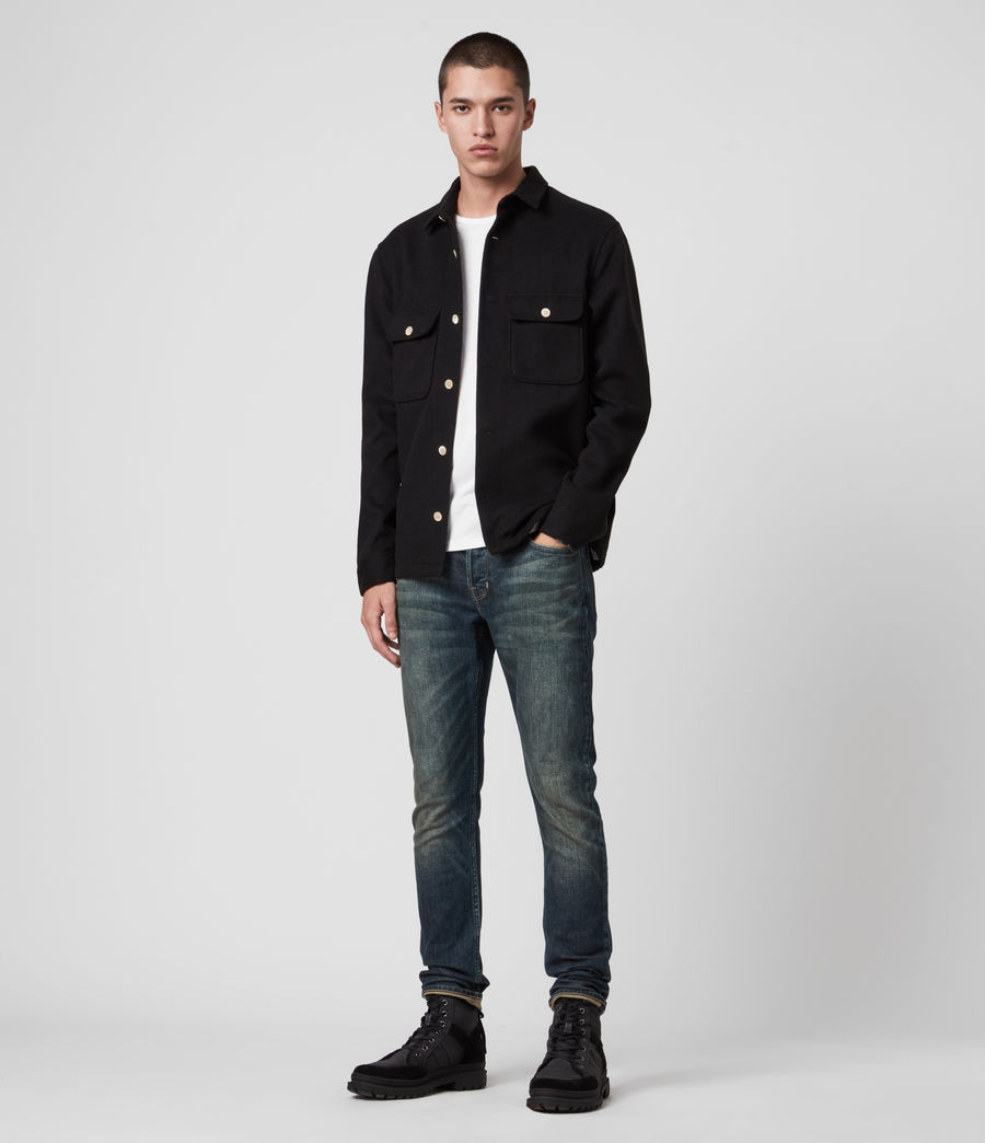 Mens Rex Slim Jeans, Dark Indigo (dark_indigo) - Image 3