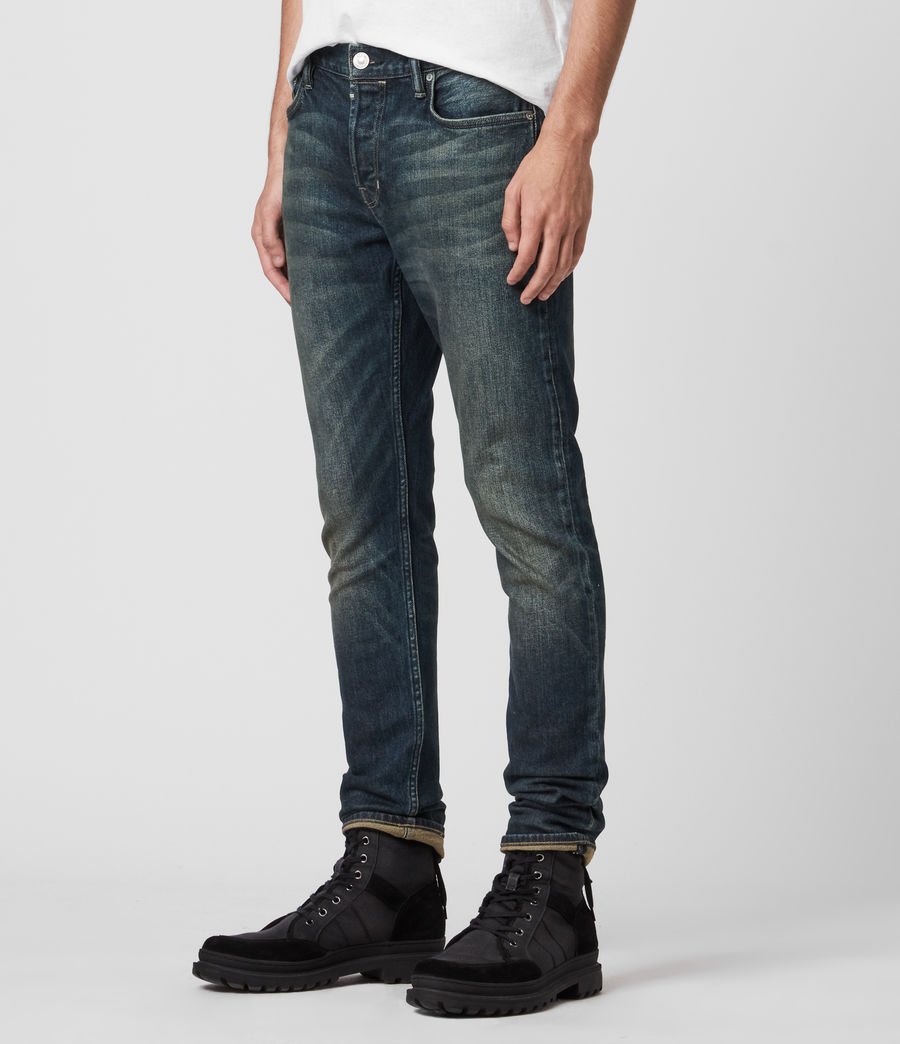 Mens Rex Slim Jeans, Dark Indigo (dark_indigo) - Image 4