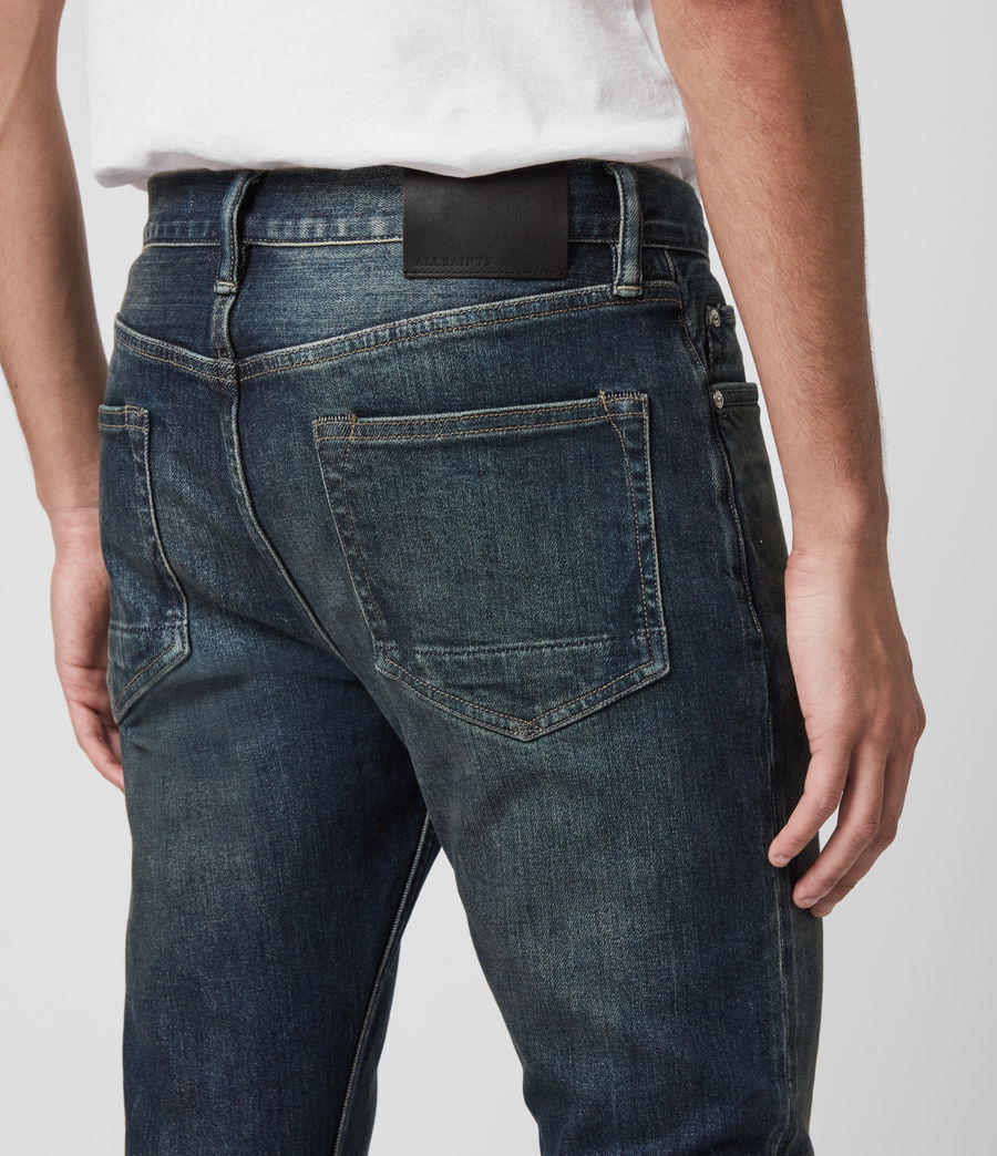 Mens Rex Slim Jeans, Dark Indigo (dark_indigo) - Image 5