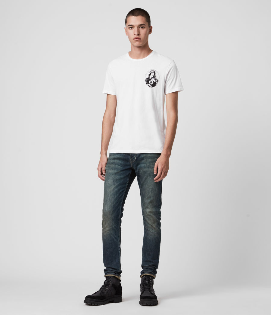 Mens Rex Slim Jeans, Dark Indigo (dark_indigo) - Image 6