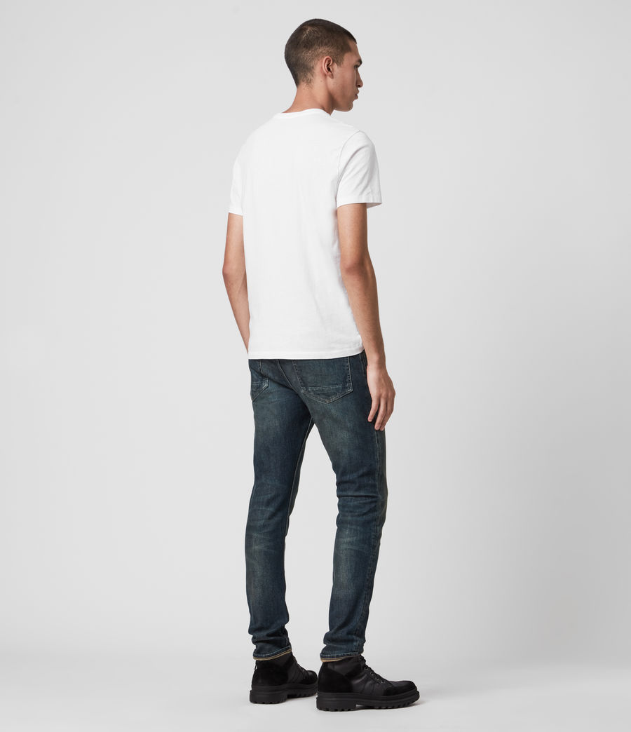 Mens Rex Slim Jeans, Dark Indigo (dark_indigo) - Image 7