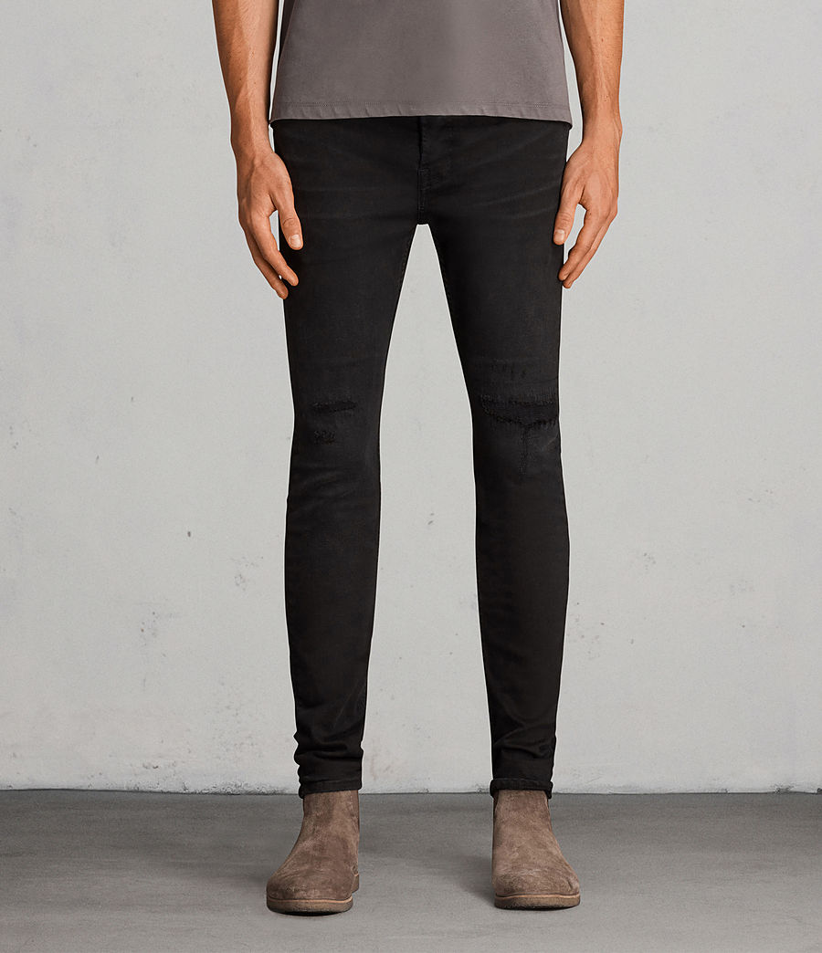 Men's Bixby Cigarette Skinny Jeans (black) - Image 1