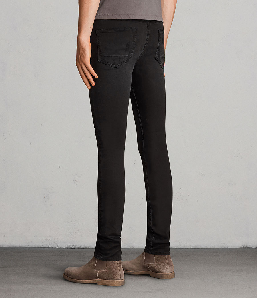Men's Bixby Cigarette Skinny Jeans (black) - Image 3