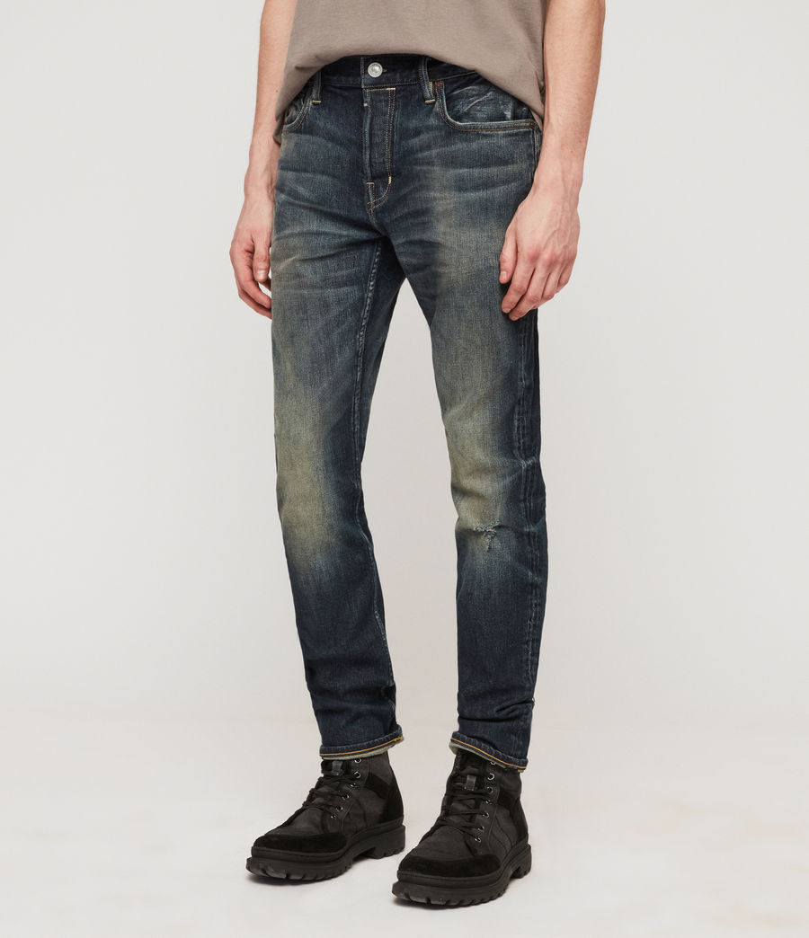 Herren Cigarette Skinny Jeans (mid_indigo_blue) - Image 1