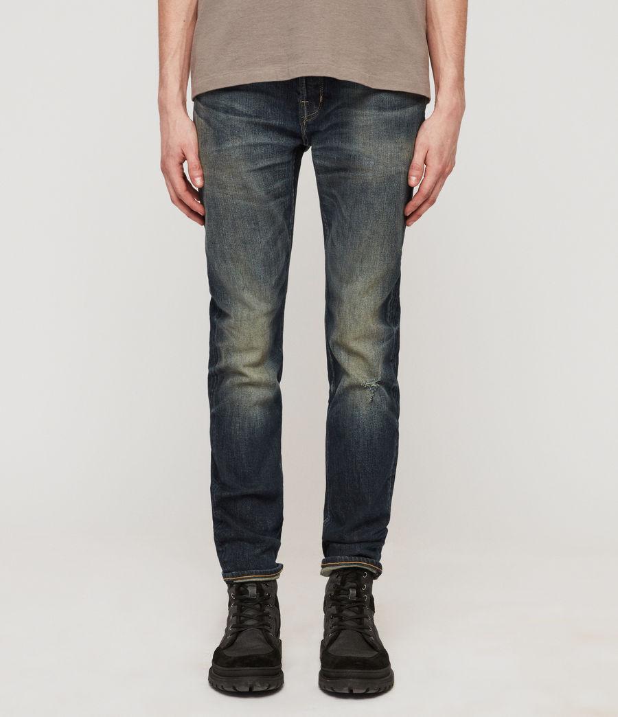 Herren Cigarette Skinny Jeans (mid_indigo_blue) - Image 4