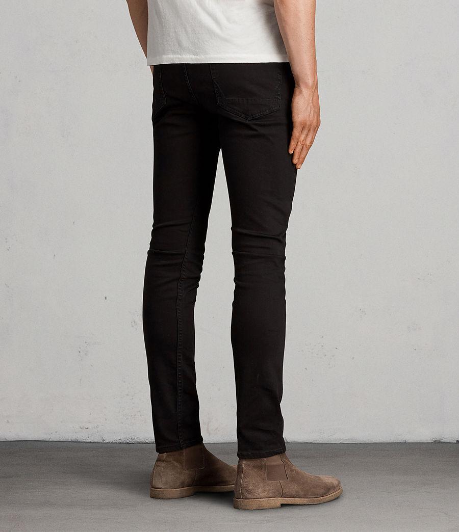 Men's Blouis Cigarette Skinny Jeans (black) - Image 4