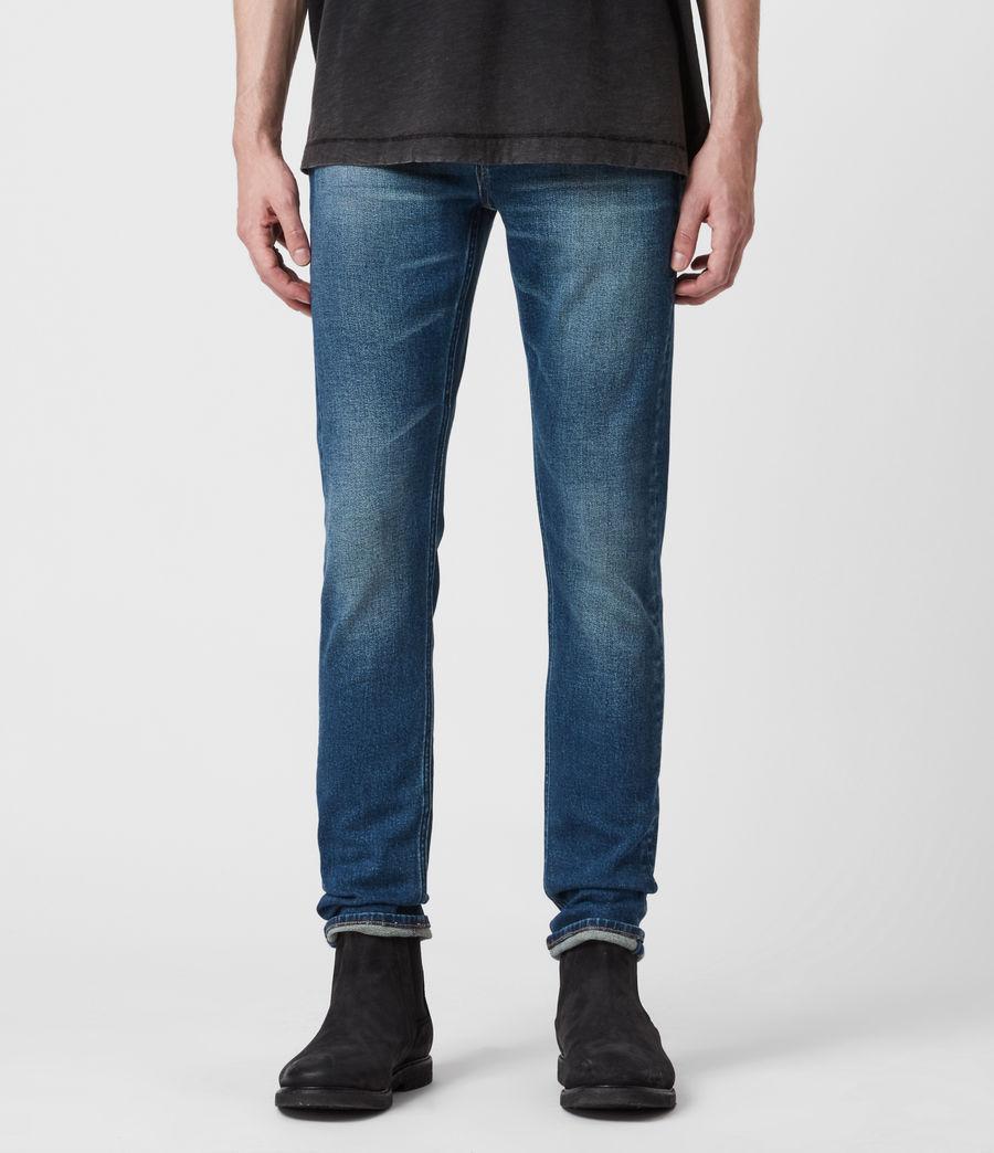 Herren Cigarette Skinny Jeans, Mid Indigo (mid_indigo) - Image 1