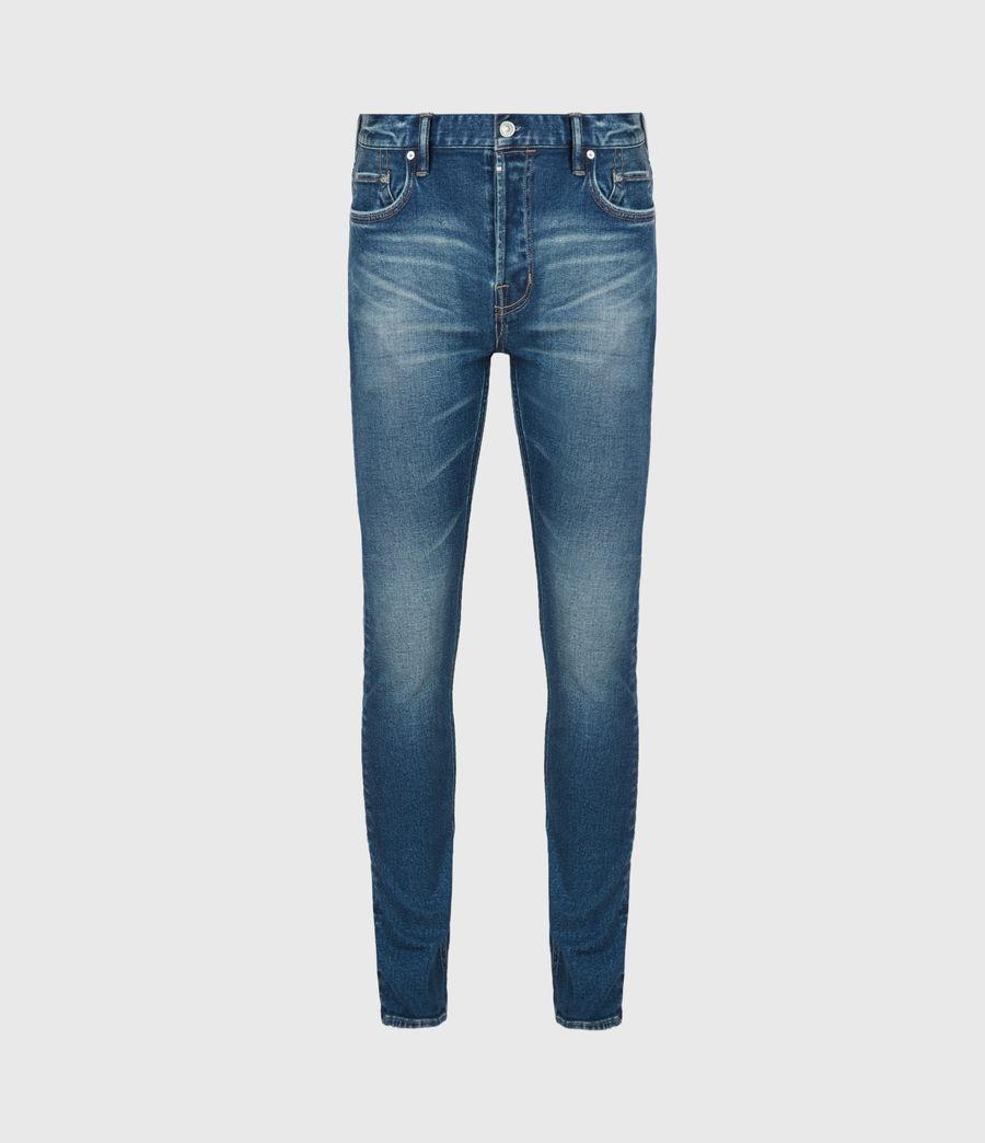 Herren Cigarette Skinny Jeans, Mid Indigo (mid_indigo) - Image 2