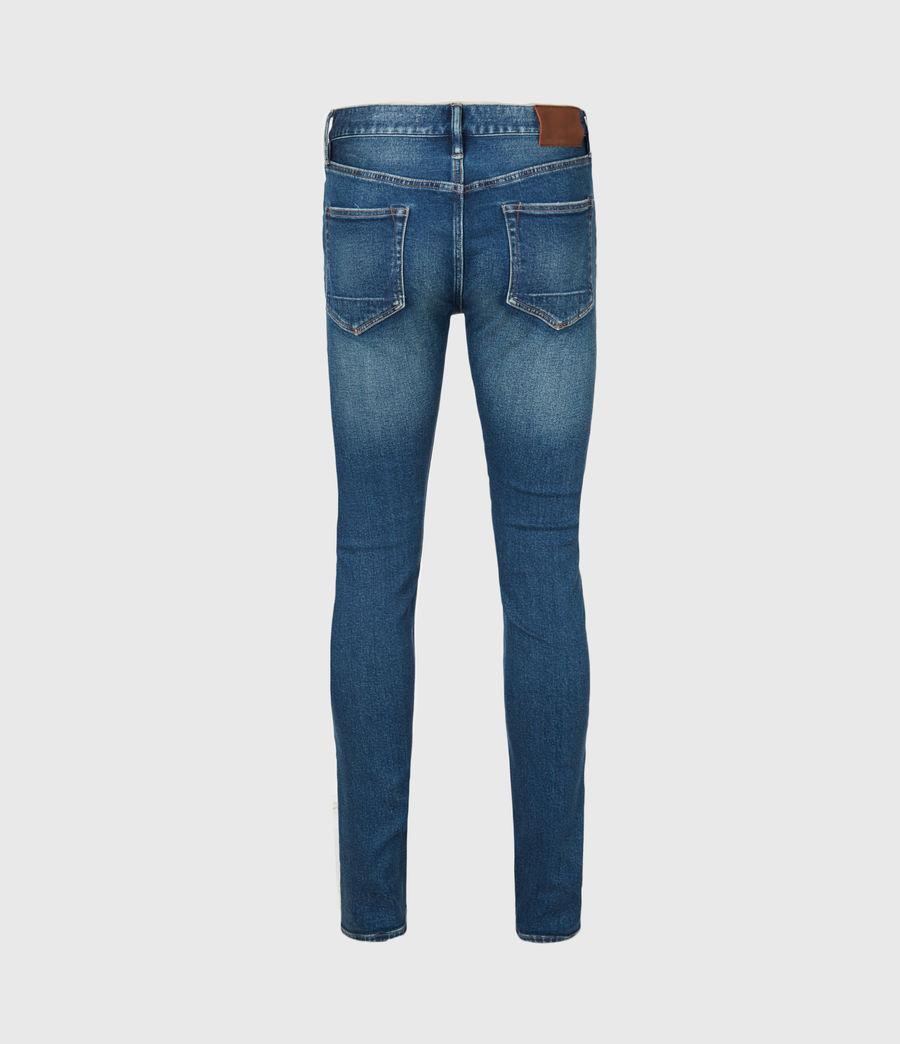 Herren Cigarette Skinny Jeans, Mid Indigo (mid_indigo) - Image 3