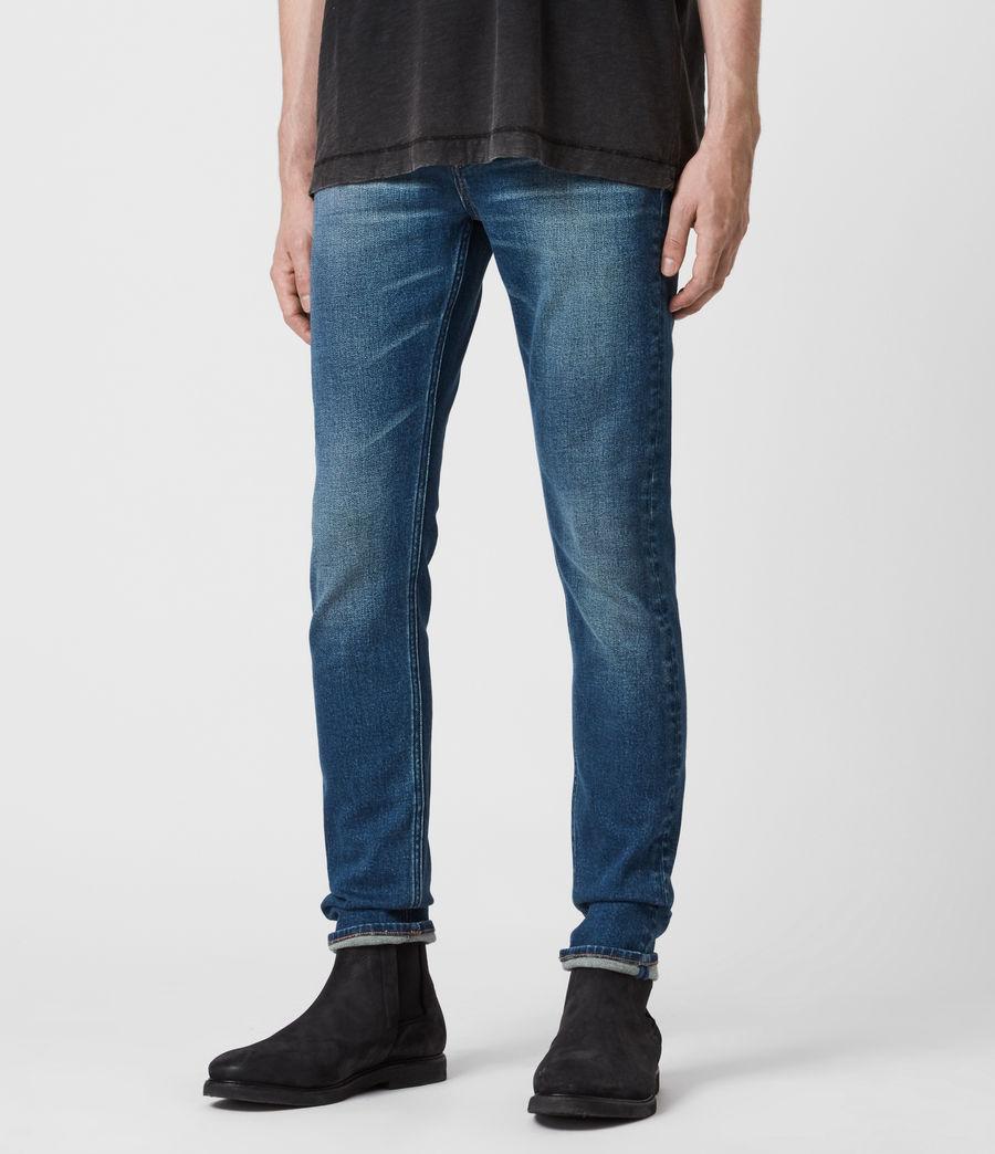 Herren Cigarette Skinny Jeans, Mid Indigo (mid_indigo) - Image 4