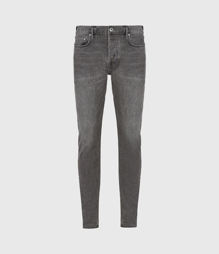 Men's Cigarette Skinny Jeans, Dark Grey (dark_grey) - Image 2