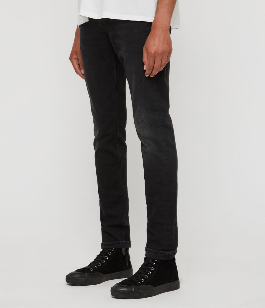 Men's Rex Straight Skinny Jeans (dark_grey) - Image 4