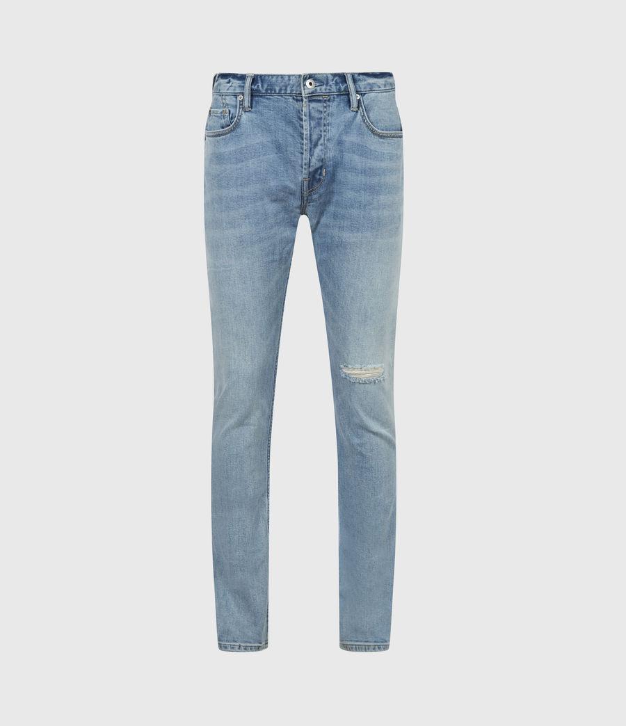 Herren Rex Damaged Slim Jeans, Dirty Indigo (dirty_indigo) - Image 2
