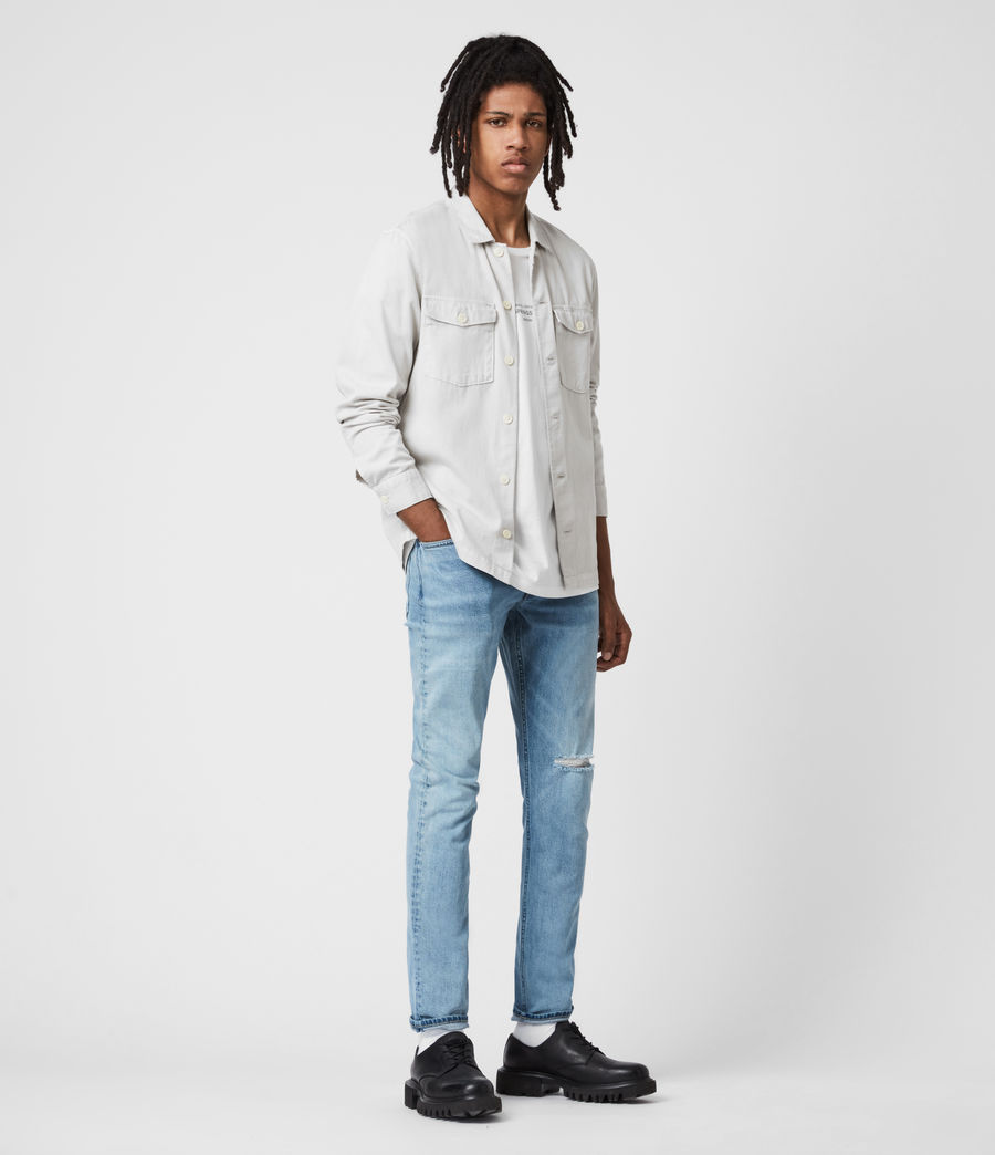 Herren Rex Damaged Slim Jeans, Dirty Indigo (dirty_indigo) - Image 4
