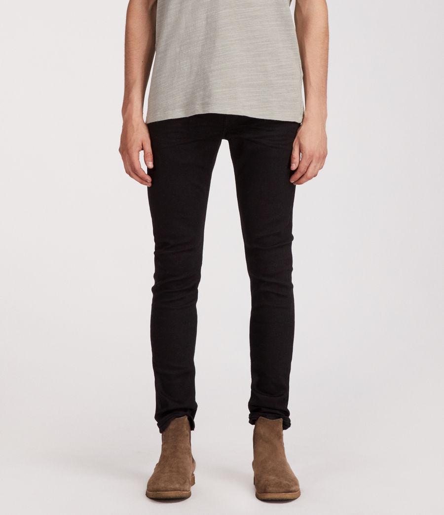 Mens Boda Cigarette Skinny Jeans (jet_black) - Image 1