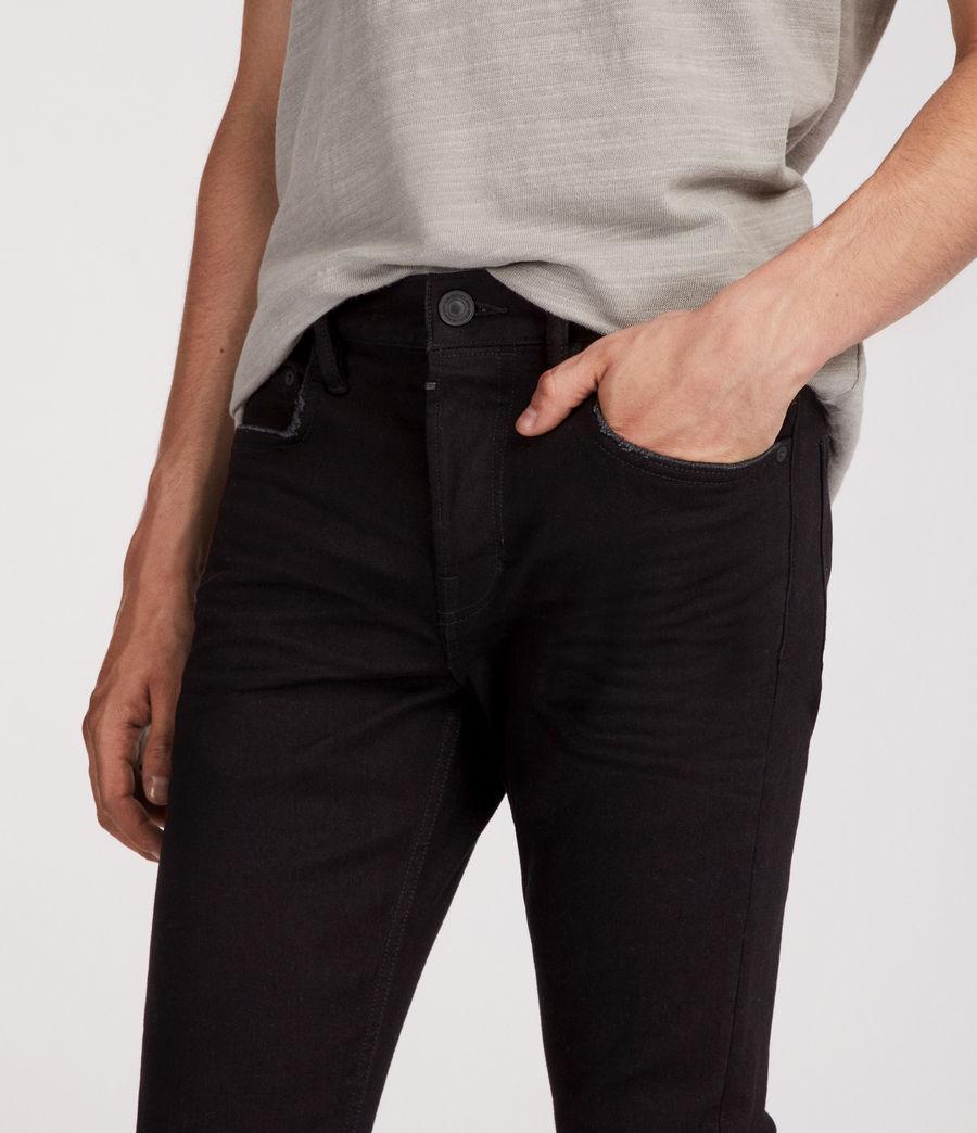 Mens Boda Cigarette Skinny Jeans (jet_black) - Image 2